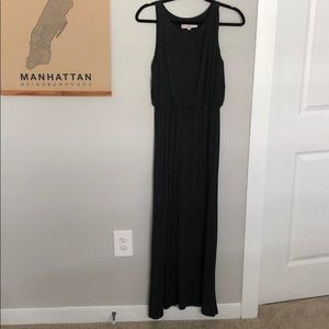 Dark gray cotton maxi dress from LOFT